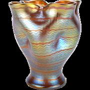 Loetz Phänomen Genre 7506 Iridescent Art Glass Vase in a Documented Form