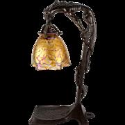 Loetz Phänomen Genre 85/3839 Iridescent Art Nouveau Glass Lamp