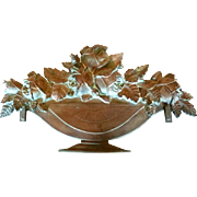 French Decorative House or Garden Plaque Sign Urn with Flowers