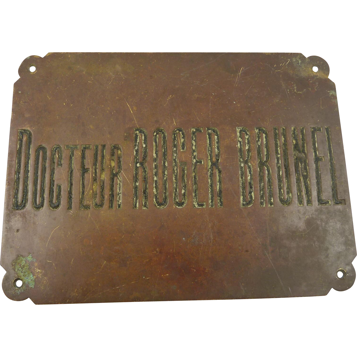 Vintage French Docteur Doctor Sign Architectural Element