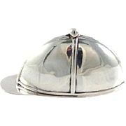 Sterling Silver Vest Case in the Form of Jockey's Cap