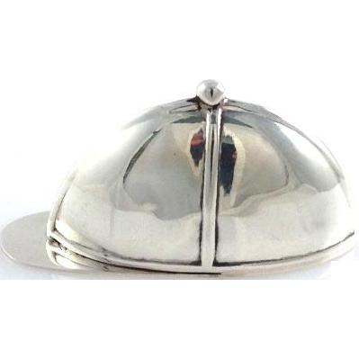Sterling Silver Vest Case in the Form of Jockey's Cap