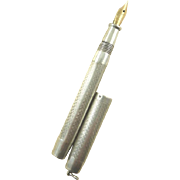 French Silver Dip Pen with 18 Karat Gold Nib C. 1915