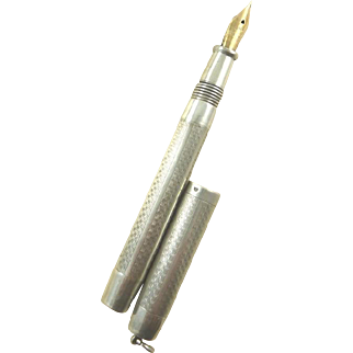 French Silver Dip Pen with 18 Karat Gold Nib C. 1915