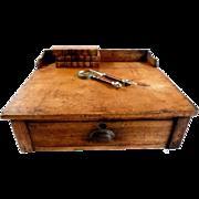 Antique Pine Writing Slope Desk Clerk's or Store Merchant's Slant Box