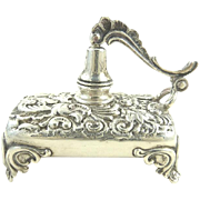 Antique Sterling Silver Oil Lamp Table Cigar Lighter Redlich & Co