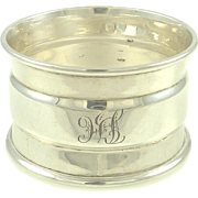 English Sterling Silver Napkin Ring Hallmarked for Birmingham 1925 Gift or Stocking Stuffer