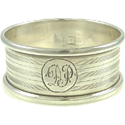 English Sterling Silver Napkin Ring Hallmarked for Birmingham  Gift or Stocking Stuffer