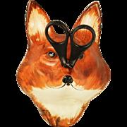 Vintage Pottery Fox String Holder Babbacombe Pottery, Devon Co, England