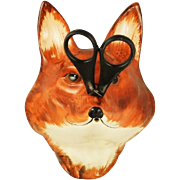 Vintage Pottery Fox String Holder Babbacombe Pottery, Devon Co, England