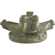 Antique French Ice Cream Mold by Cadot Two Love Birds