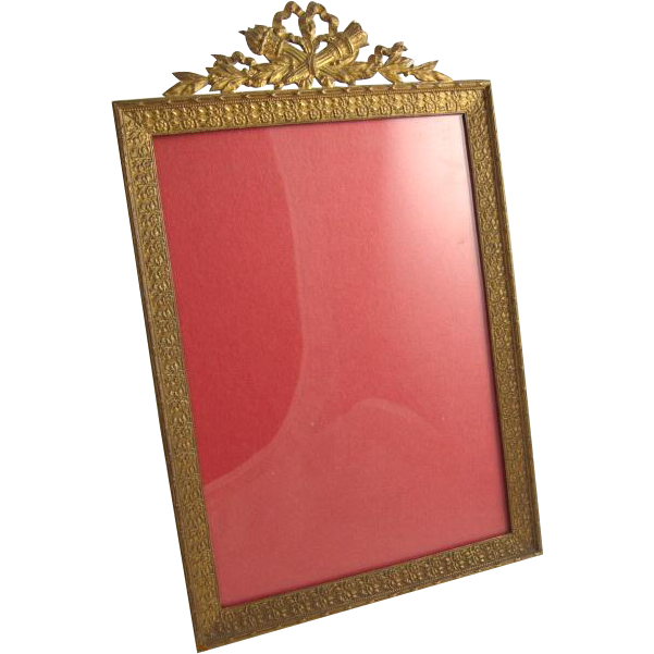 Antique French Gilt Bronze Ormolu Picture Frame-Rectangle