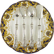 Antique French Sterling Silver Hors d'oeuvre Service
