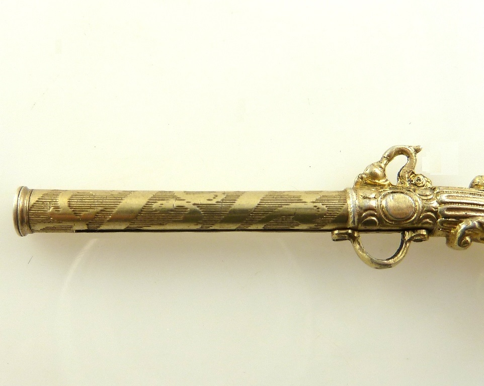 An antique french silver vermeil propelling toothpick novelty shape from 43chesapeakecourt on - Novelty toothpicks ...