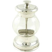 Antique Sterling Silver Pepper Grinder English Birmingham 1908