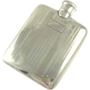 Ladies Sterling Silver Flask Art Deco Liquor or Perfume