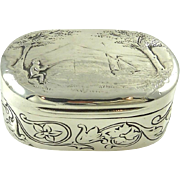 Antique Georgian Sterling Silver & Gilt Snuff Box London 1805