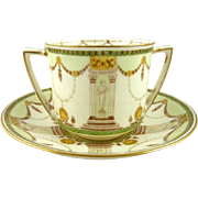 Antique Royal Doulton Bouillon Cream Soup Bowls Set of 8 by Designer Robert Allen  Edwardian Era