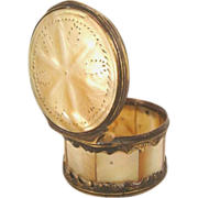 Antique Mother of Pearl & Gilt Snuff Box-Late 18th Century