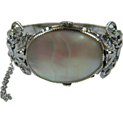 Mother of Pearl Bangle Style Bracelet Unsigned Whiting and Davis Book Reference