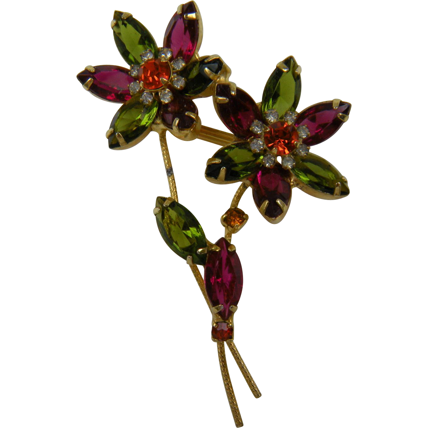 DeLizza & Elster (Juliana) Flower Brooch