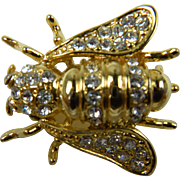 Sparkling Fly Insect Brooch