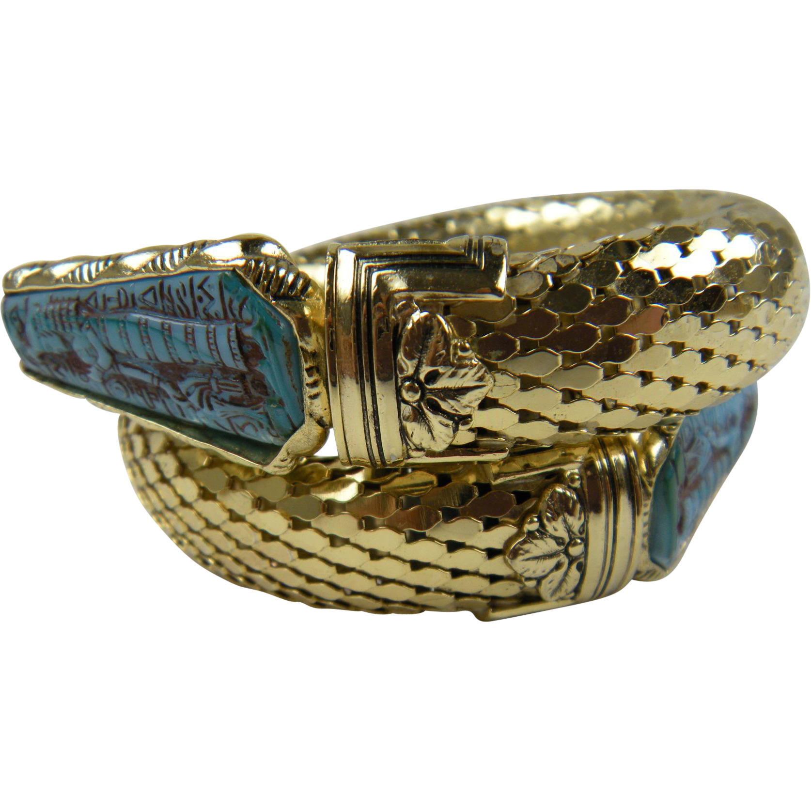 Unsigned Whiting and Davis Egyptian Revival Bracelet