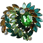 Enormous DeLizza and Elster (Juliana) Brooch