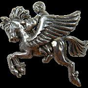 Signed Brooch KORDA Thief of Bagdad Pegasus with Rider Book Piece