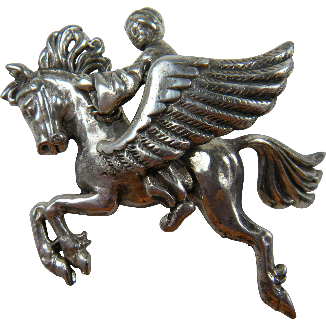 Signed Brooch KORDA Thief of Bagdad Pegasus with Rider Book Piece