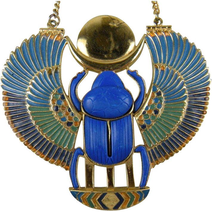 SALE Thomas Fattorini Egyptian Revival Pectoral Book PIece
