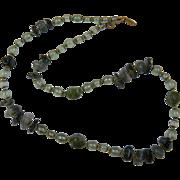 Signed MIRIAM HASKELL Polished Stone Beaded Necklace