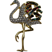 Duchess of Windsor Style Flamingo Brooch