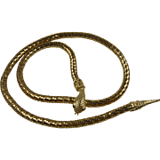 Adjustable Mesh Snake Necklace