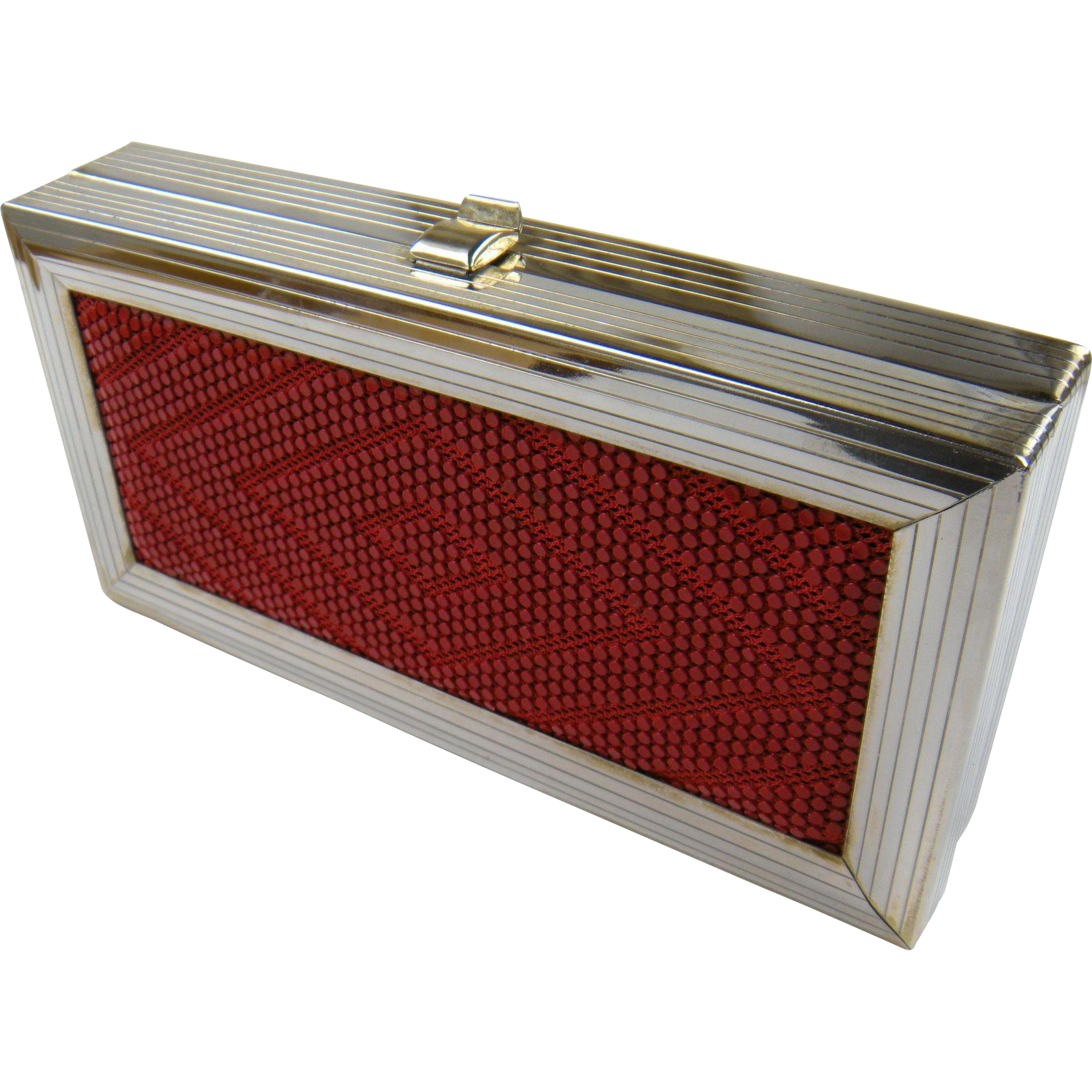 Signed Retro Box Purse with Chain Handle