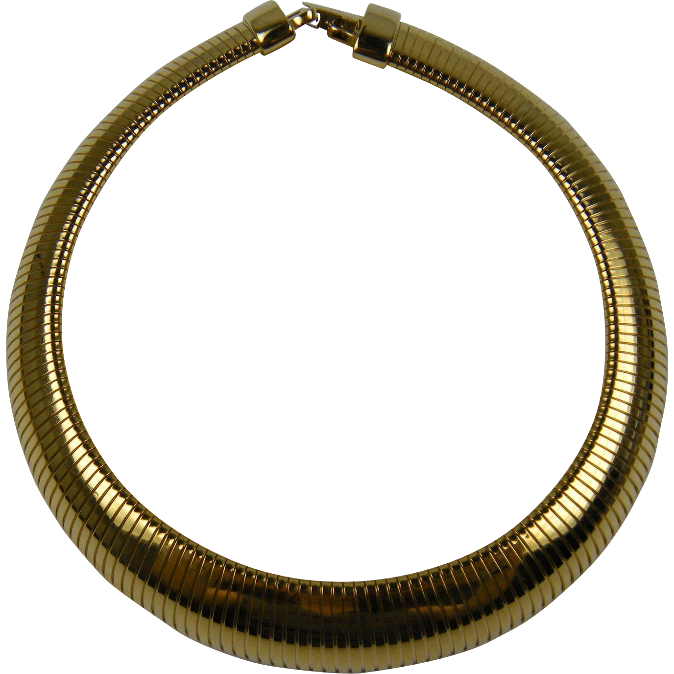 Signed Joan Rivers Egyptian Revival Gold Collar Necklace