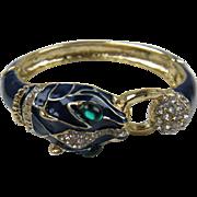 Cartier-Inspired Big Cat Bangle Bracelet