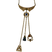 Signed ART Egyptian Revival Pendant Necklace