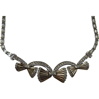 Art Deco Inspired Necklace Signed JOMAZ