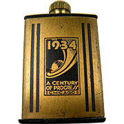 "Rare 1934 Chicago Exposition ""Century of Progress"" Match King Flint Lighter"
