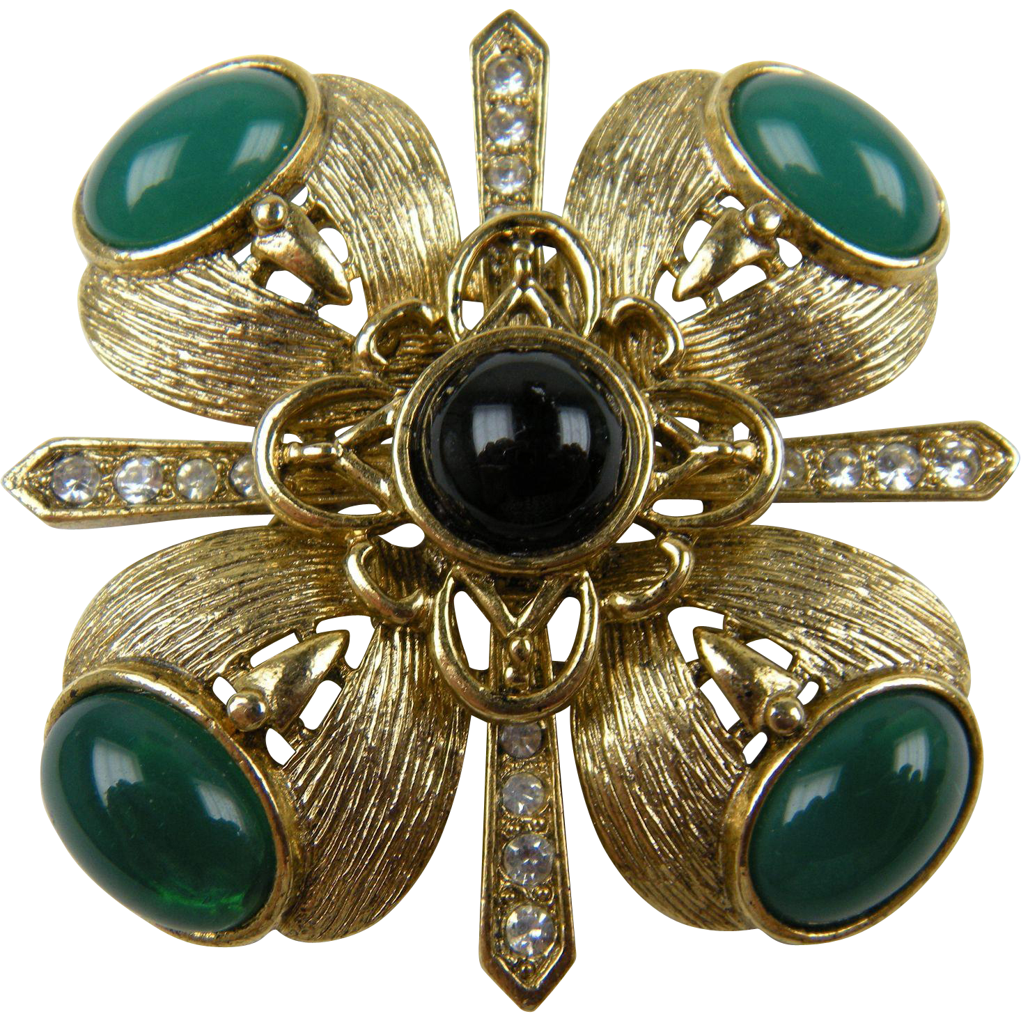 For Nick Signed CRAFT Ornate Maltese Cross Brooch