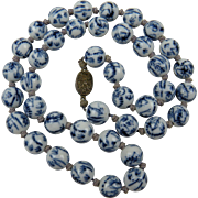 Hand Knotted Chinese Import Beaded Necklace