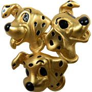 Signed Napier Disney Brooch 101 Dalmations