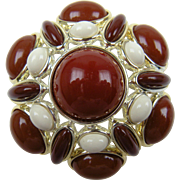 Huge Domed Cabochon Brooch