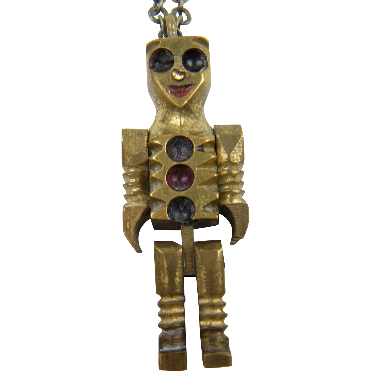 Unique Robot Pendant with Movable Arms and Legs