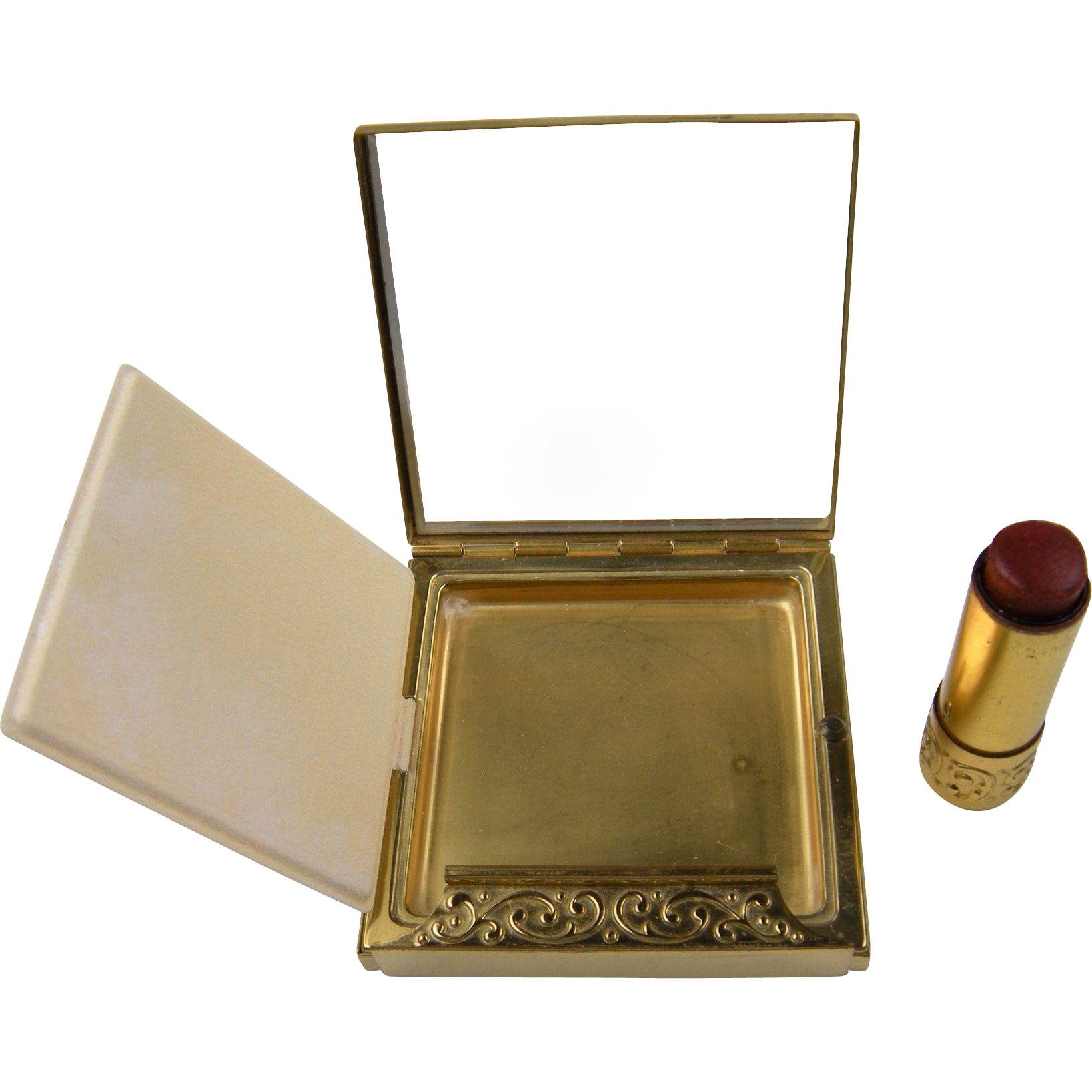 "Signed AVON ""Evening Charm"" Compact and Lipstick in Original Box"