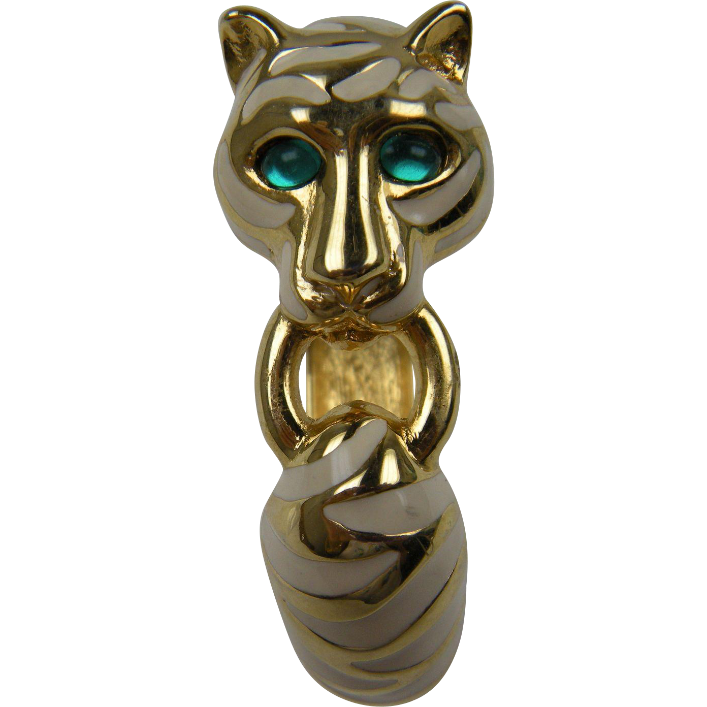 Cartier-Inspired Big Cat Bangle Bracelet