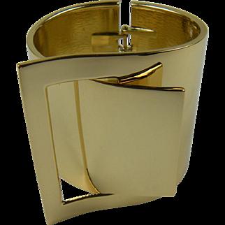 Designer Quality Modernist Cuff Bracelet