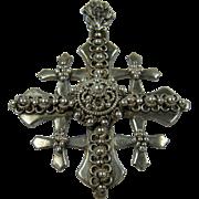 Ornate and Huge Sterling Silver Jerusalem Cross