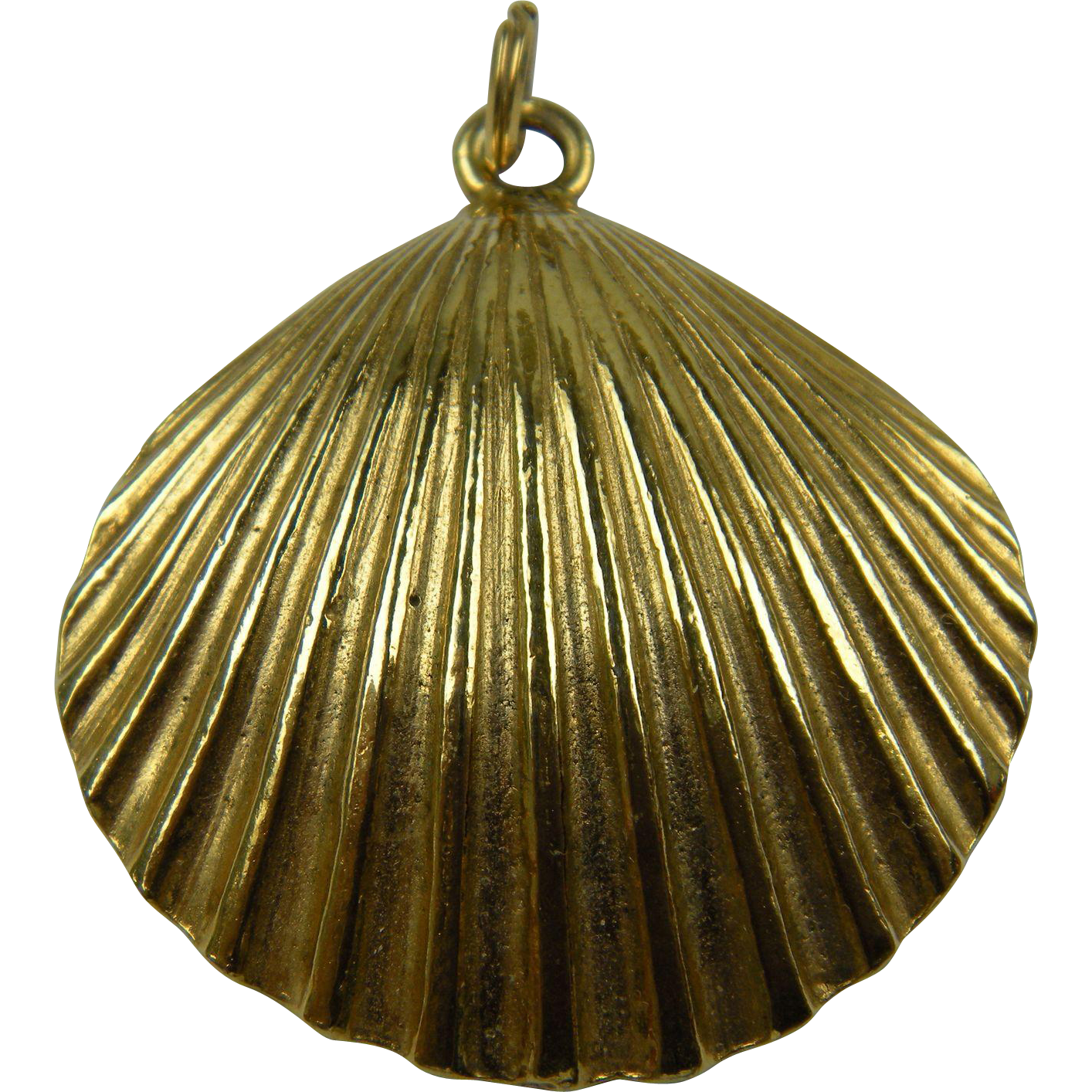 Signed and dated Mimi di Niscemi Shell Pendant 1972